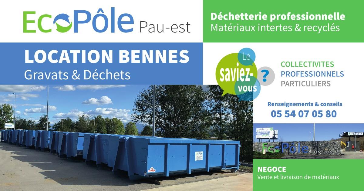 Ecopôloe, location de bennes gravats et déchets verts